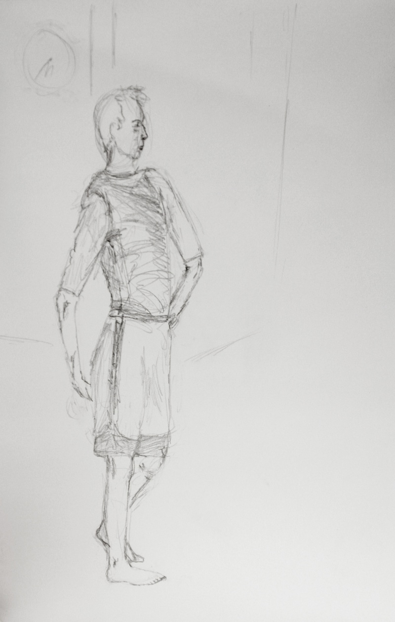 unfinished figure drawing